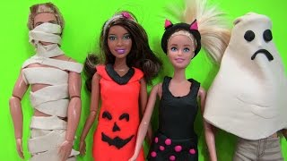 Cuộc Sống Barbie & Ken (Tập 3) Lễ Hội Halloween Hóa Trang / Play Doh Barbie's custom Halloween