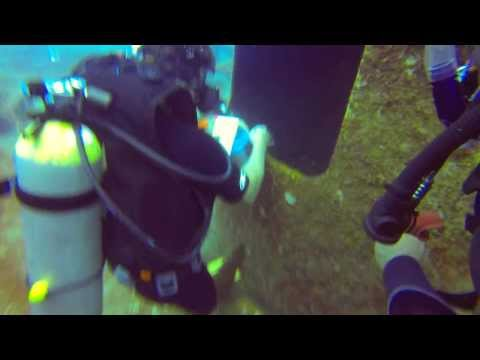 Scuba Diving - Grand Cayman - Kittiwake 8 - Geocache - 8/22/13