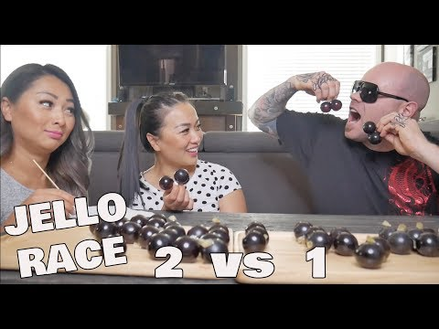 KYOHO GRAPE JELLO RACE *SISTERS vs *HUBBY (Funniest race EVER!)   SASVlogs