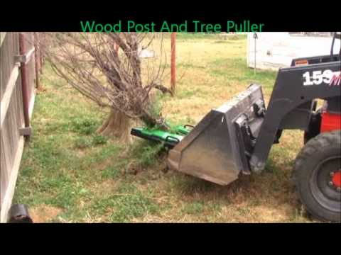 Wood Post And Tree Puller For Tractors And Skidsteers