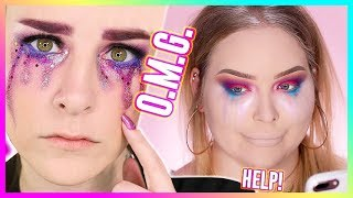 I TRIED FOLLOWING A SIMPLY NAILOGICAL MAKEUP TUTORIAL... WOW!