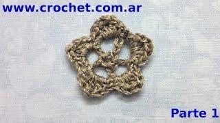 Flor N° 23 En Tejido Crochet Tutorial Paso A Paso. Parte