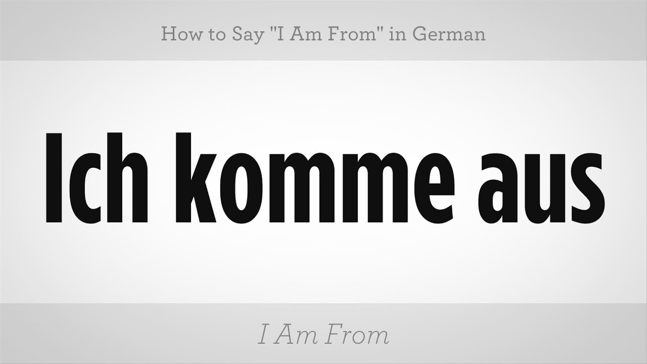 how to say to go in german