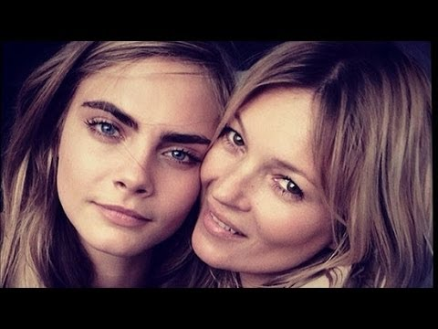 Cara Delevingne Posing With Kate Moss For Burberry | Fashion Flash