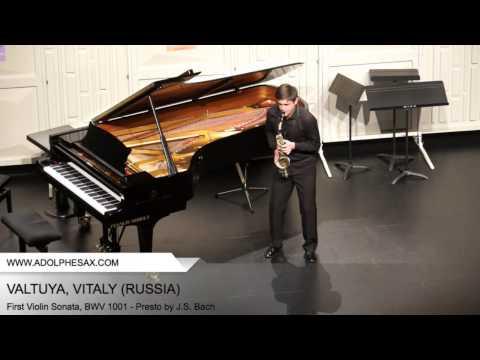 Dinant 2014 - VATULYA Vitaly (First Violin Sonata, BWV 1001 - Presto by J.S. Bach)
