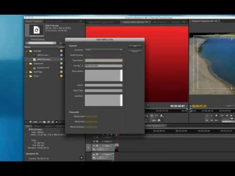 FMC Tutorial - Intro to Adobe Premiere Pro CS4- Reconnect...