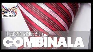 Selecciona la corbata conforme a los colores de camisa y traje