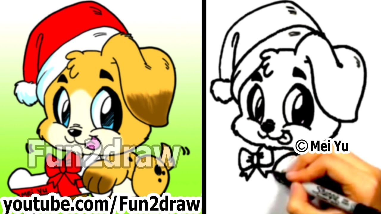 Free fun2draw puppies coloring pages for Fun to draw cute animals