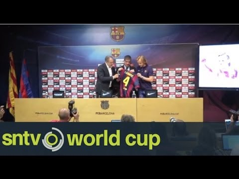 Ivan Rakitic presented as a Barcelona player