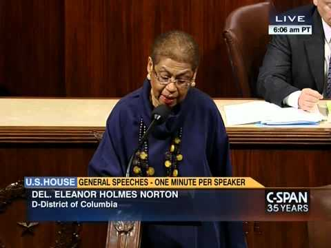 Norton on House floor re hearing on DC's marijuana decrim bill