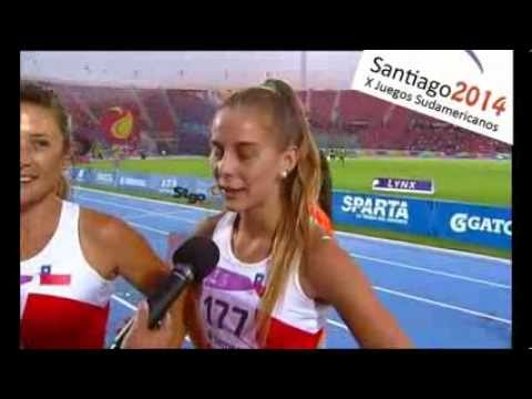 Final Posta 4x100 Damas ODESUR 2014 - Medalla de Plata Chile