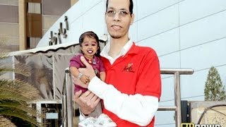 Shortest Woman With Tallest Man In The World