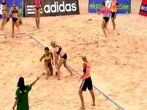 Dinamarca - Brasil (Femenino) Mundial Balonmano Playa 2012 Omán