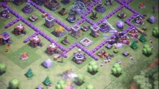 Clash Of Clans: High Level Defense TH 9 Lvl 84 Attack