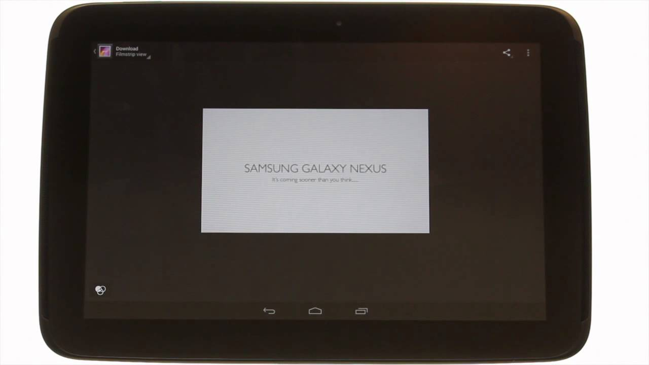 How to use the Gallery app on your Samsung Google Nexus 10 ...
