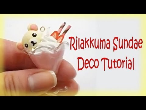 スイーツデコ Japanese Sweet Deco Rilakkuma (リラックマ) Sundae Tutorial, I love Sweet Deco stuff, and I thought I would share with you guys how to make this really adorable ice cream sundae. This video is one of 5 different sundae...
