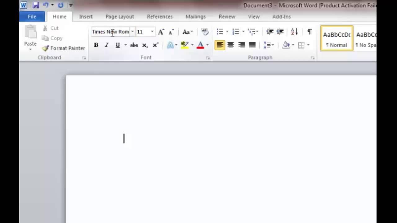 Essay font size