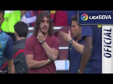 Carles Puyol watching FC Barcelona - Atlético de Madrid