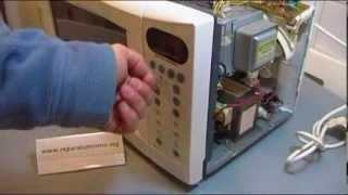 Componentes de un horno microondas