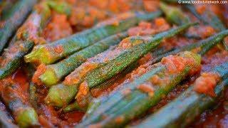 Bharwa Bhindi and Smoky Chilli Raita By Nikunj Vasoya   Indian Village Recipes