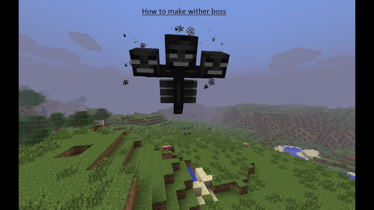 wither minecraft how to make