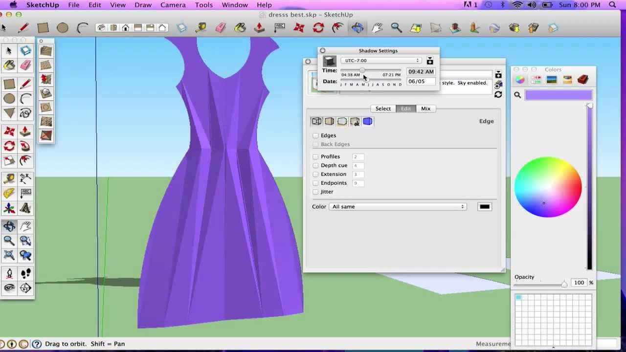 Sketchup Tutorial Creating Clothes With Follow Me Tool