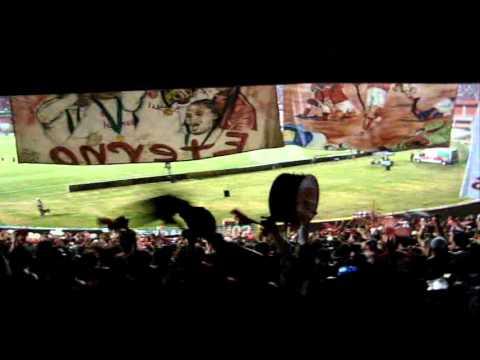 INTER 1x1 Santos - CAMISA VERMELHA (antes do jogo) - Libertadores 2012 - GUARDA e POPULAR