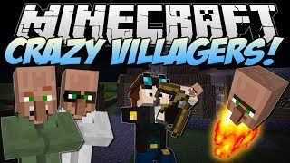Minecraft CRAZY VILLAGERS! (Exploding Heads & Villager