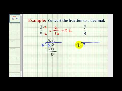 Example 1: Convert a Fraction to a Decimal (terminating)