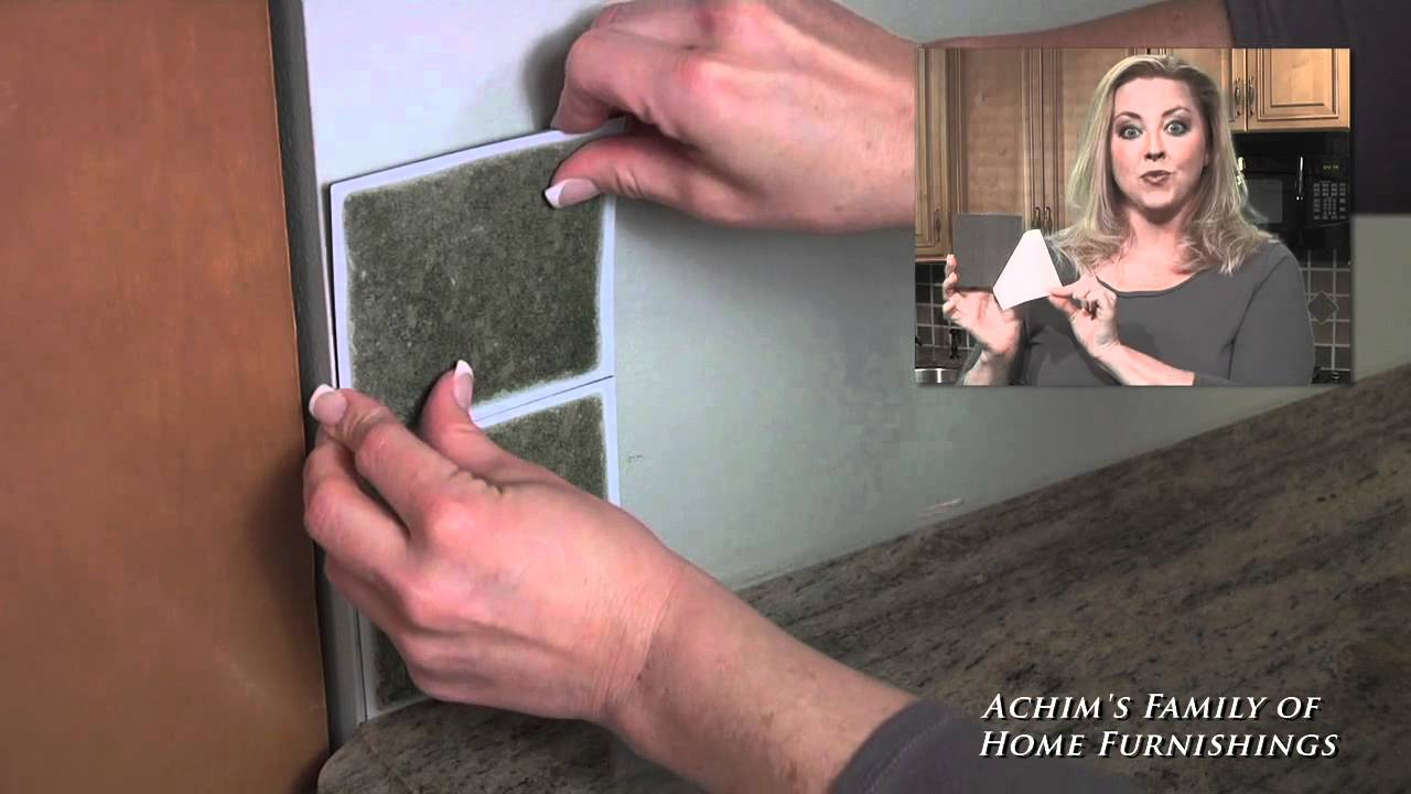 Installing Self Adhesive Vinyl Wall Tile Back Splash By