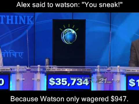 Jeopardy Watson IBM Fast Computer Artificial Intelligence Software Win Million Donation Human Ken Jennings Brad Rutter QA Question Answer English Natural Language Review Full Part 1 2 3 Day Feb 14 16