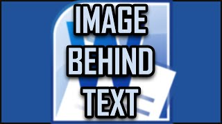 Microsoft Office Word How To Put An Image Behind The