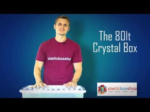 80lt Crystal Storage Box with Lid Pallet Deal 100 Boxes