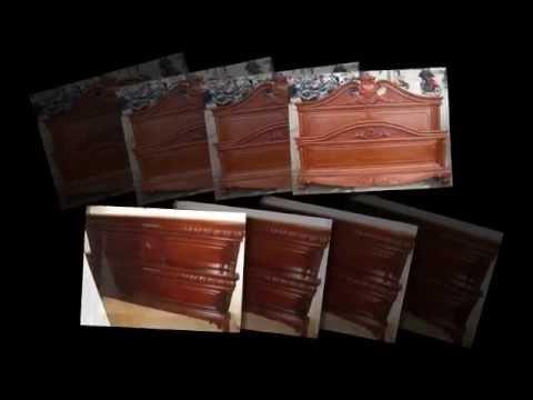 Giường gỗ gụ, gỗ hương, gỗ mun sọc hoa, Đồ gỗ Đức Hiền 2013