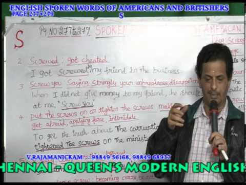 SPOKEN ENGLISH IN CHENNAI AMERICAN AND BRITISH CORPORATE WORDS 277+279