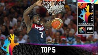 Top 5 Plays - 31 August - 2014 FIBA Basketball World Cup