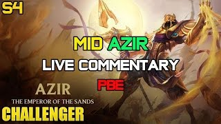 Challenger Mid Azir Ep. 13 PBE LIVE Gameplay