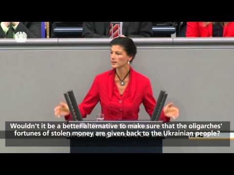 Sahra Wagenknecht about the EU Crisis and the civil war in Ukraine