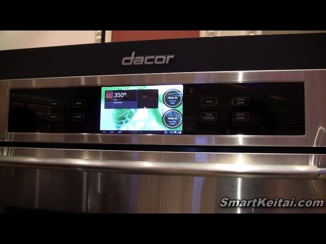 Dacor Discovery IQ Android Smart Oven Demo at CES 2013