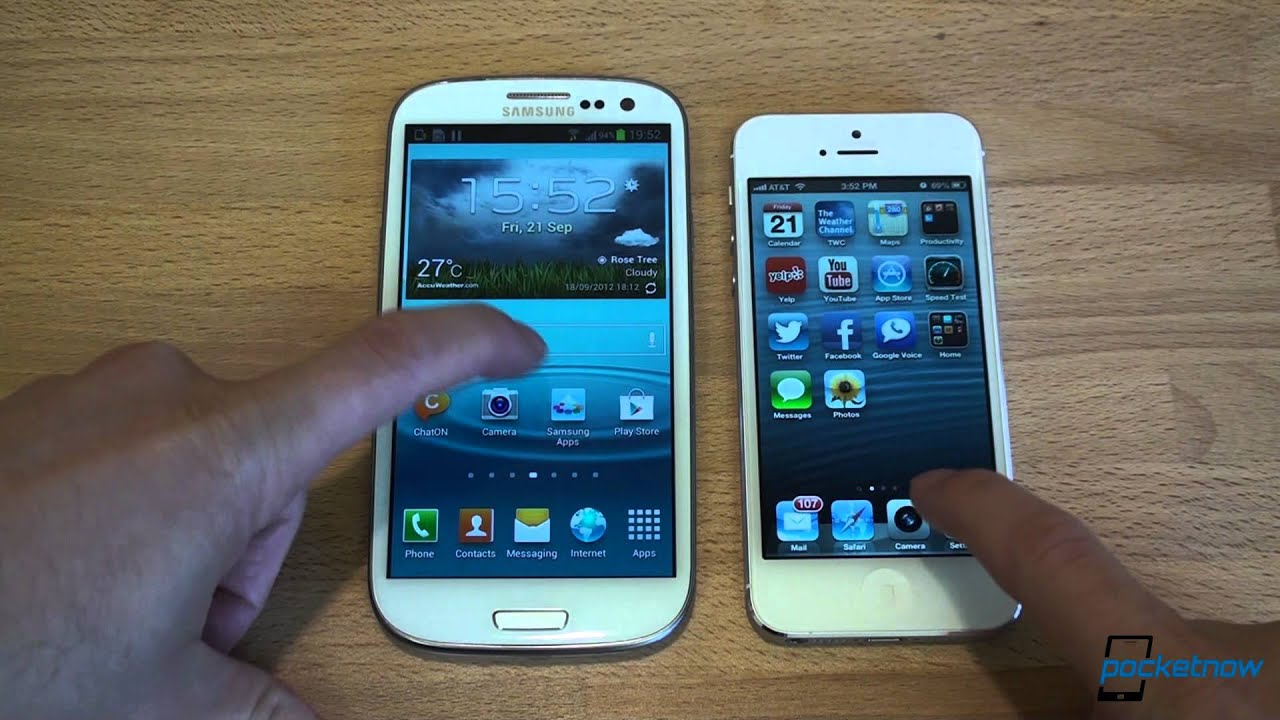 Iphone Vs Galay S Iii