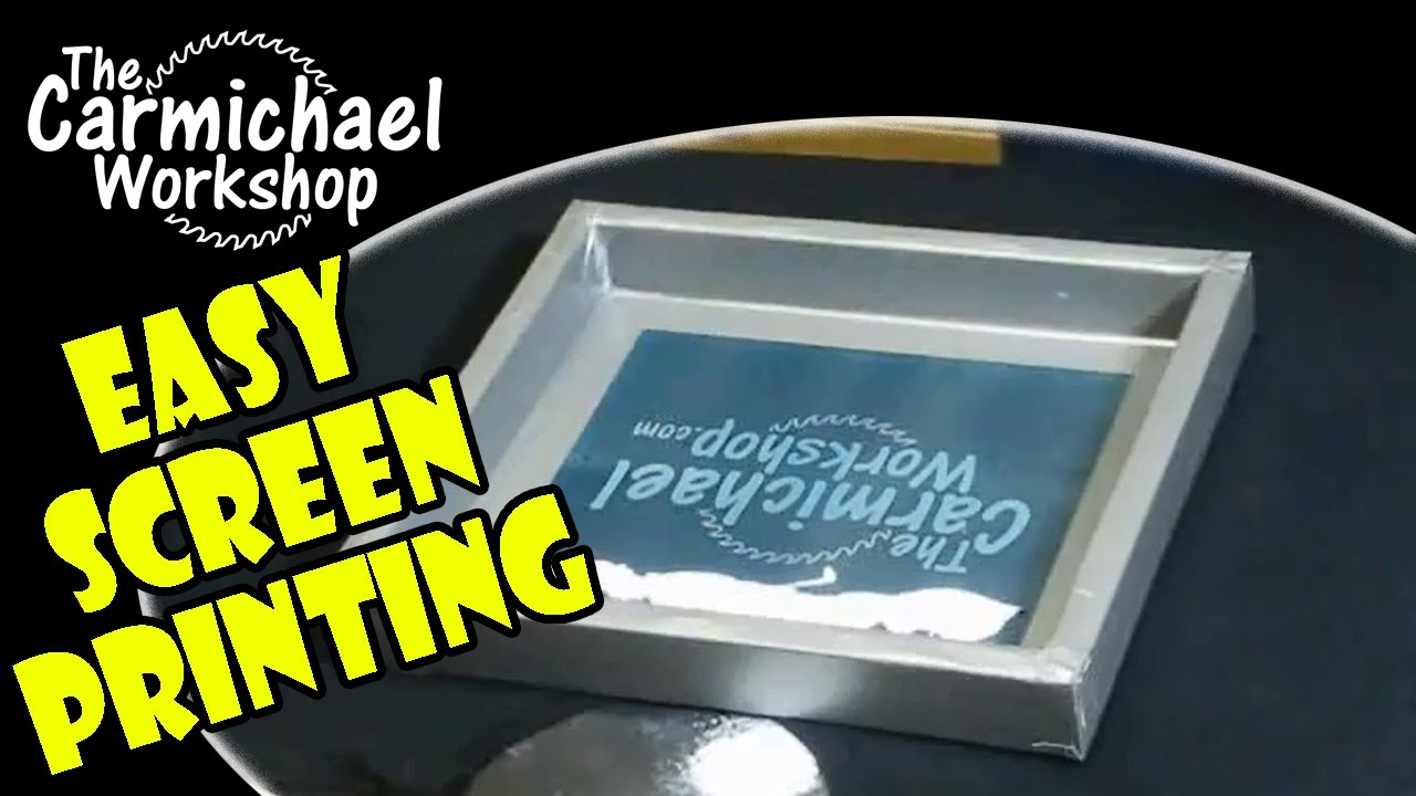 How To Screenprint Your Own T Shirts Easy Diy