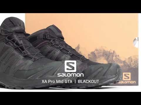 Salomon XA Pro Mid GTX Black Out Edition