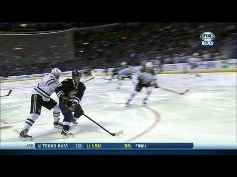 Vladimir Sobotka human torpedo wrist shot goal 1-0 Dallas Stars vs St. Louis Blues 11/23/13 NHL