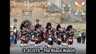 The Black Watch P&D parade Edinburgh's Royal Mile [4K/UHD]