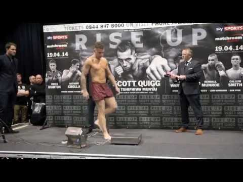 SAM HYDE v TOMMY GIFFORD - OFFICIAL WEIGH-IN (MANCHESTER) - RISE UP