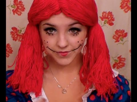 Rag Doll halloween makeup! - YouTube