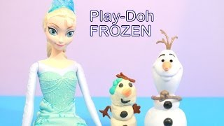Disney Queen Elsa Makes Olaf A Girl Snowman Out Of PLAY