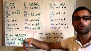 Curso De Inglés 105 Verbo TO ASK (preguntar)PASADO