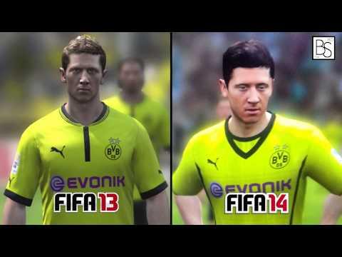 Лица игроков в FIFA 14