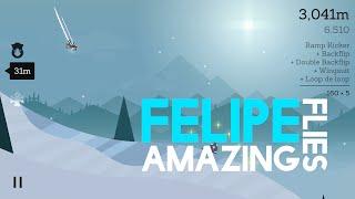Felipe Flies Amazing In A Wingsuit! | Alto's Adventure